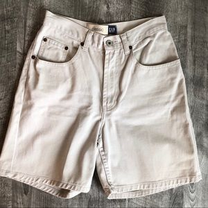 Gap Classic High Rise Jean Shorts Stone Color, 4